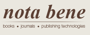 Nota Bene. Books, journals, publishing technologies.